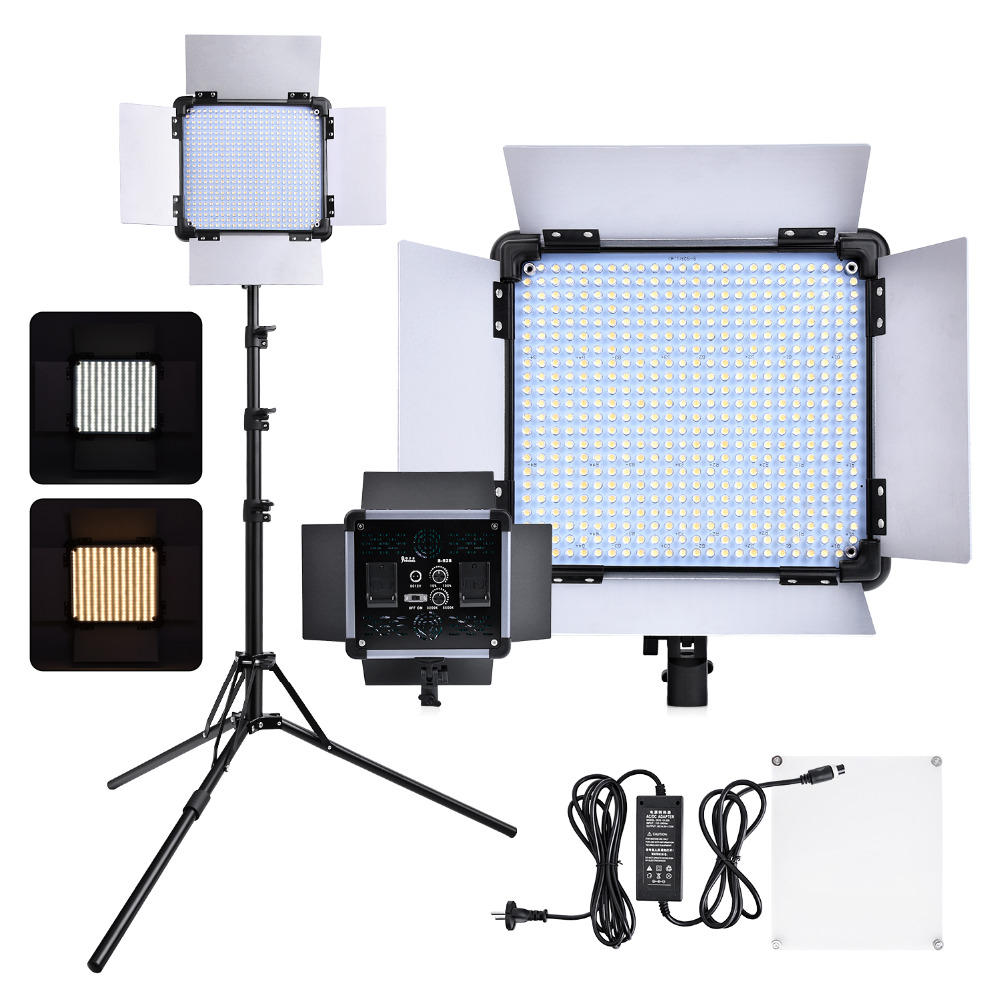 Yidoblo S-528 Bi couleur 524 LED photographie éclairage panneau continu Photo Studio vidéo Film lumière avec trépied support