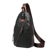 ETONWEAG New Men PU Leather High Quality Travel Cross Body Messenger Shoulder Fashion Casual Sling Pack