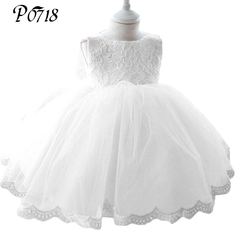 Newborn Girl Baptism Dress Christmas Costumes Baby Girls Princess Dresses 1 Year Birthday Gift Infant Kids Party Sweet Clothes