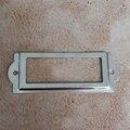 Armário de gaveta de etiqueta 83 * 30 MM de Metal de cartão de caixa de etiqueta de prata