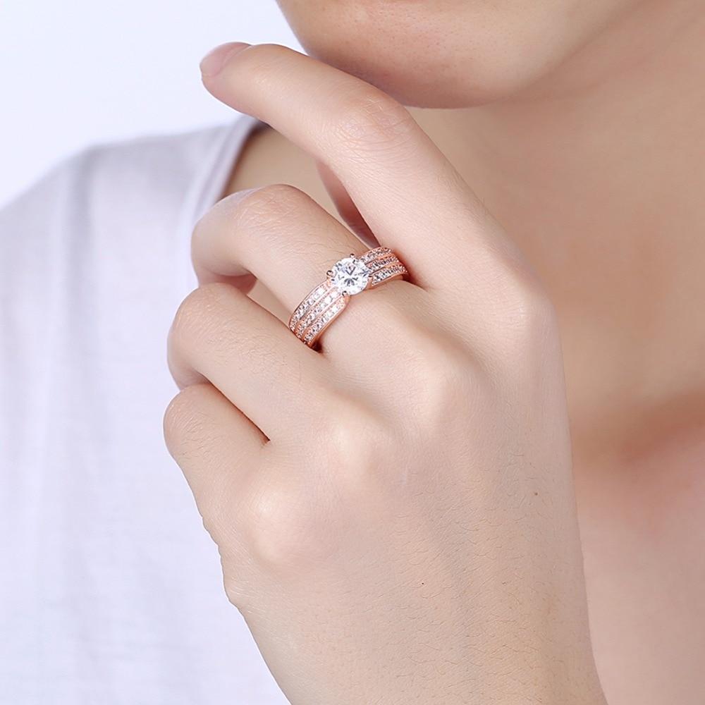 2017 Classical 0.81ct Princess Cut Shiny CZ Stone Brand Engagement ...