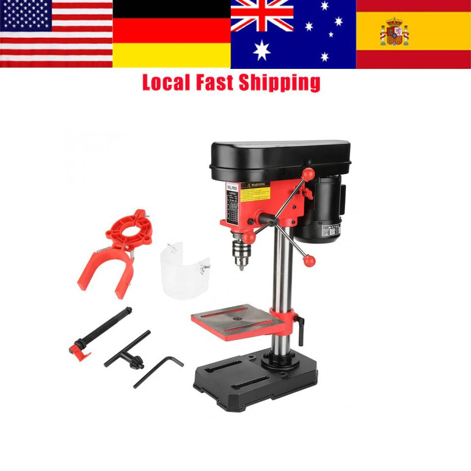 Multipurpose 340W Drill Press Workbench Mini Compact Wood Drilling Machine