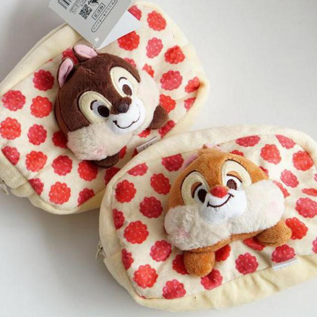 Cute Cartoon Chip And Dale Plush Bags Anime Small Animals Dolls Makeup Bag Purse Cosmetic For Girls Lovers Birthday Gifts