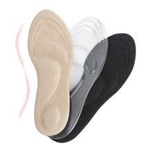Transparent silicone seven-point pad soft bottom high-heeled insoles female sandals single shoes sweat-absorbent anti-slip