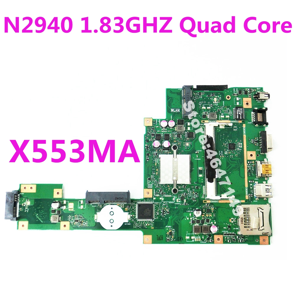 X553MA N2940 CPU Quad Core Processor Mainboard REV2.0 For Asus  A553M D553M F553M F553MA K553M X503M Laptop Motherboard Test OK