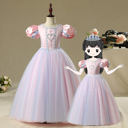 100%real children bubble sleeve medieval dress Renaissance ball gown princess Victorian/Marie Antoinette