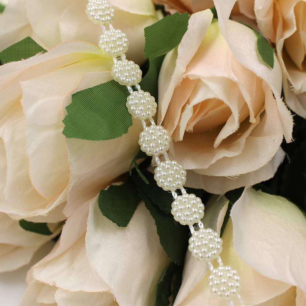Future And Fancy Pearl Beads Garland Wedding Centerpiece Flower Decoration 12 Mm Or Party Diy