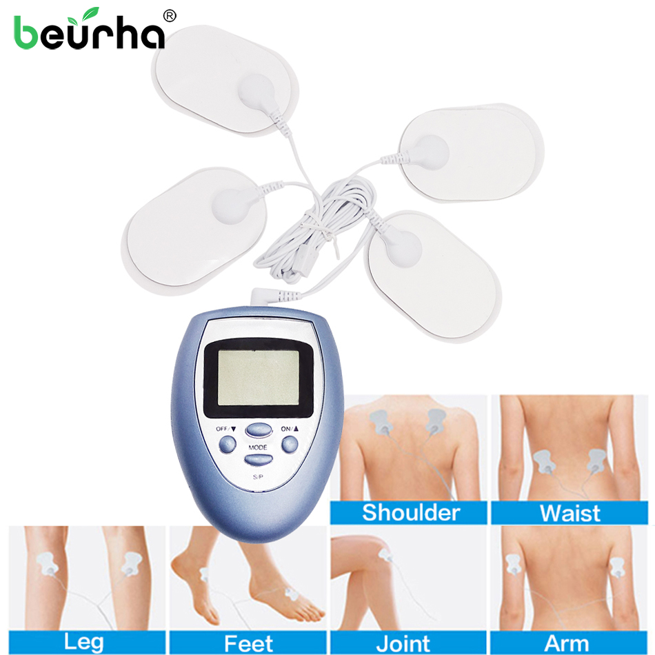 Beurha HOT Mini Electric Body Slimming Therapy Massage Shock Vibrating Meridian Pulse Muscle Stimulator Pain Relief Massager
