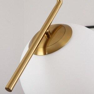 Image 4 - 20cm Modern Glass Ball Pendant Light Fixture Round Iron luminaire Metal Lamp Designer Glass Luster