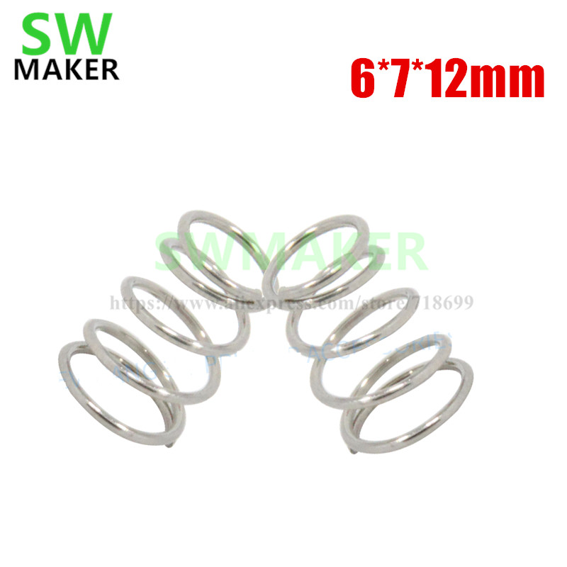 Office Electronics Special Section Swmaker 4pcs 6*7*12mm Heating Bed Table Leveling Adjustment Spring For Reprap Prusa I3 3d Printer Parts Aromatic Character And Agreeable Taste Computer & Office