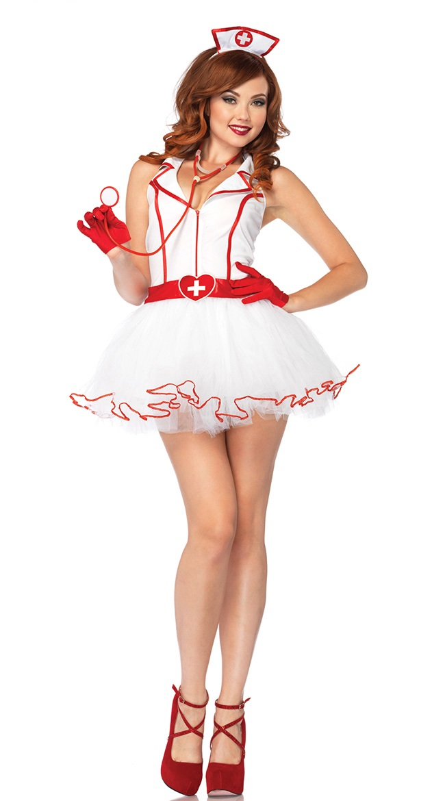 Sexy White Nurse Costume For Halloween Adult Cosplay Dress Fancy Dress For Party 88803