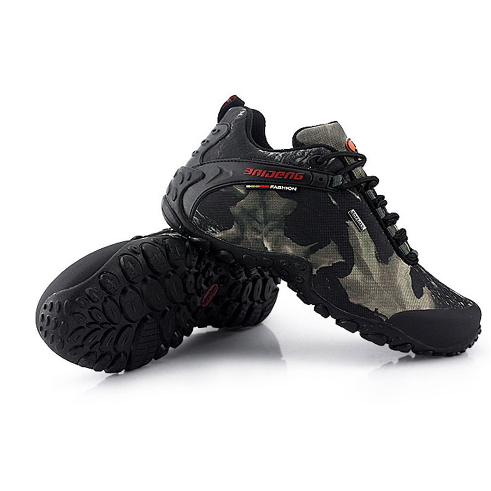 Men's Shoes For Camping Climbing Mountain Outdoor Waterproof Lace-up Hiking Boots Sports Anti-slip Breathable Shoes breathable lace up men outdoor hiking shoes