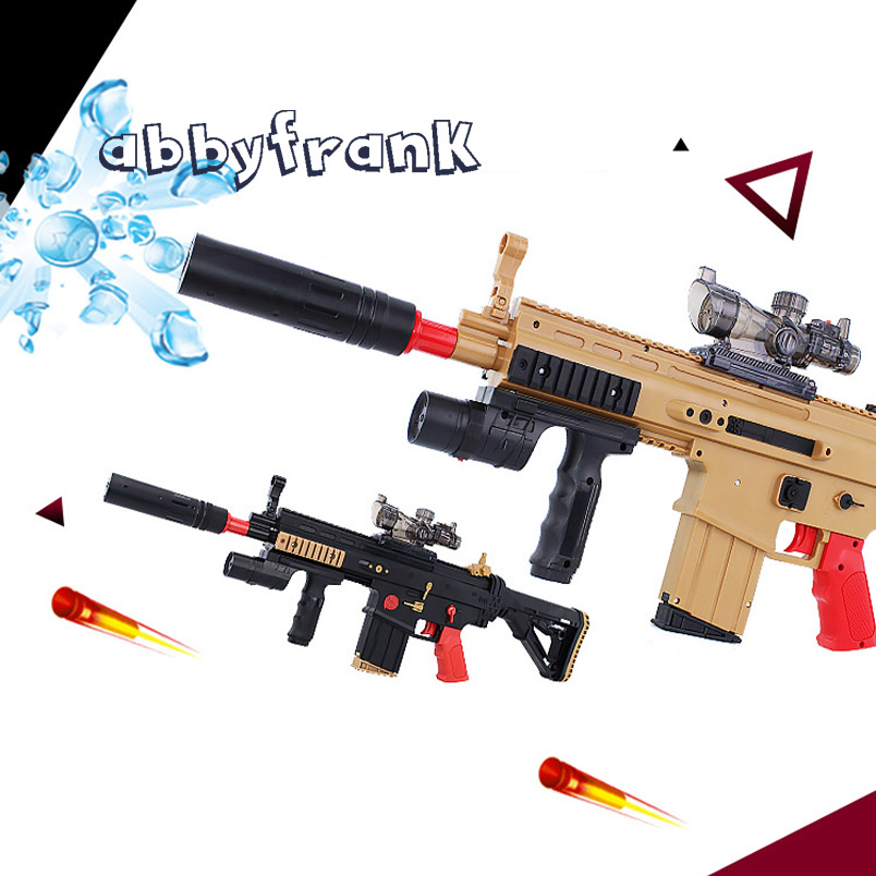 Abbyfrank SCAR Rifle Toy Electric Repeating Water Bullet Assault Toy Gun Soft & Water Bullets Paintball Pistol Toy Gift Idea elite hot fire strike infrared ray soft bullets toy gun manual kids pistol gun toy