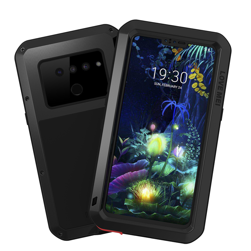 For <font><b>LG</b></font> <font><b>V50</b></font> <font><b>ThinQ</b></font> Case lgv50 Shock Dirt Proof Water Resistant Metal Armor Cover Phone Case for <font><b>LG</b></font> <font><b>V50</b></font> <font><b>ThinQ</b></font> Waterproof Case image
