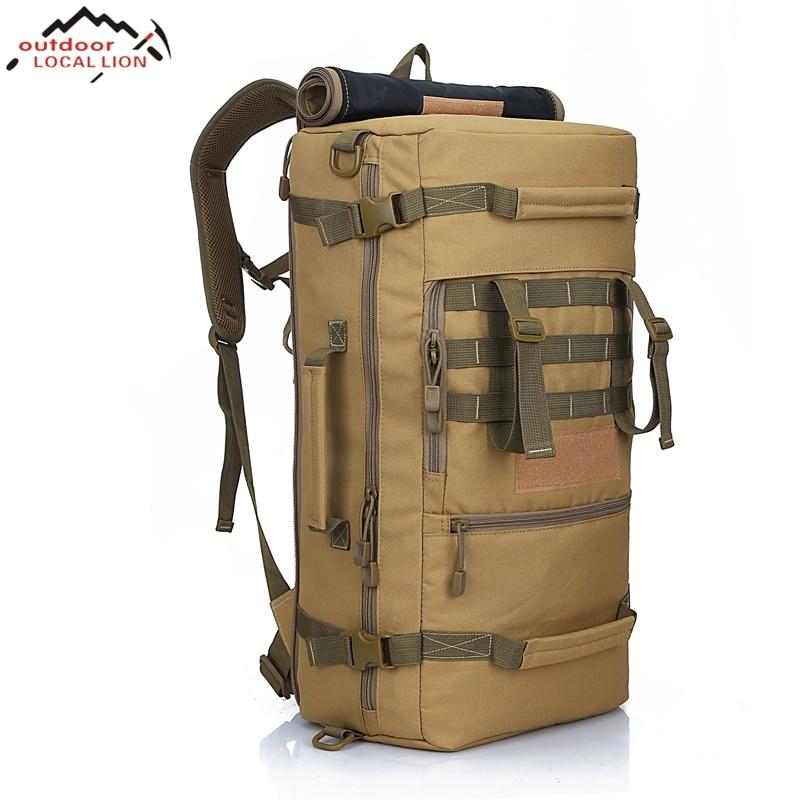 Местное Лев 2018 Для мужчин армии тактический рюкзак Кемпинг Альпинизм рюкзак Для Мужчин's Пеший Туризм рюкзак для путешествий рюкзак 50L