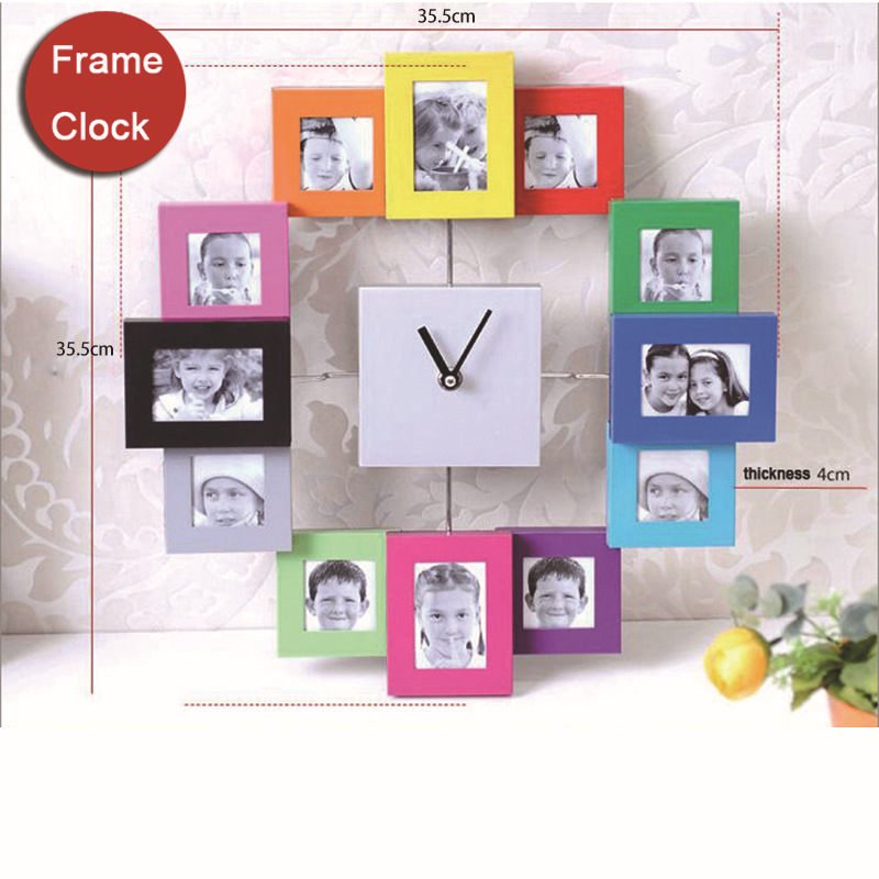 Online Buy Wholesale photo frame wall clock from China photo frame