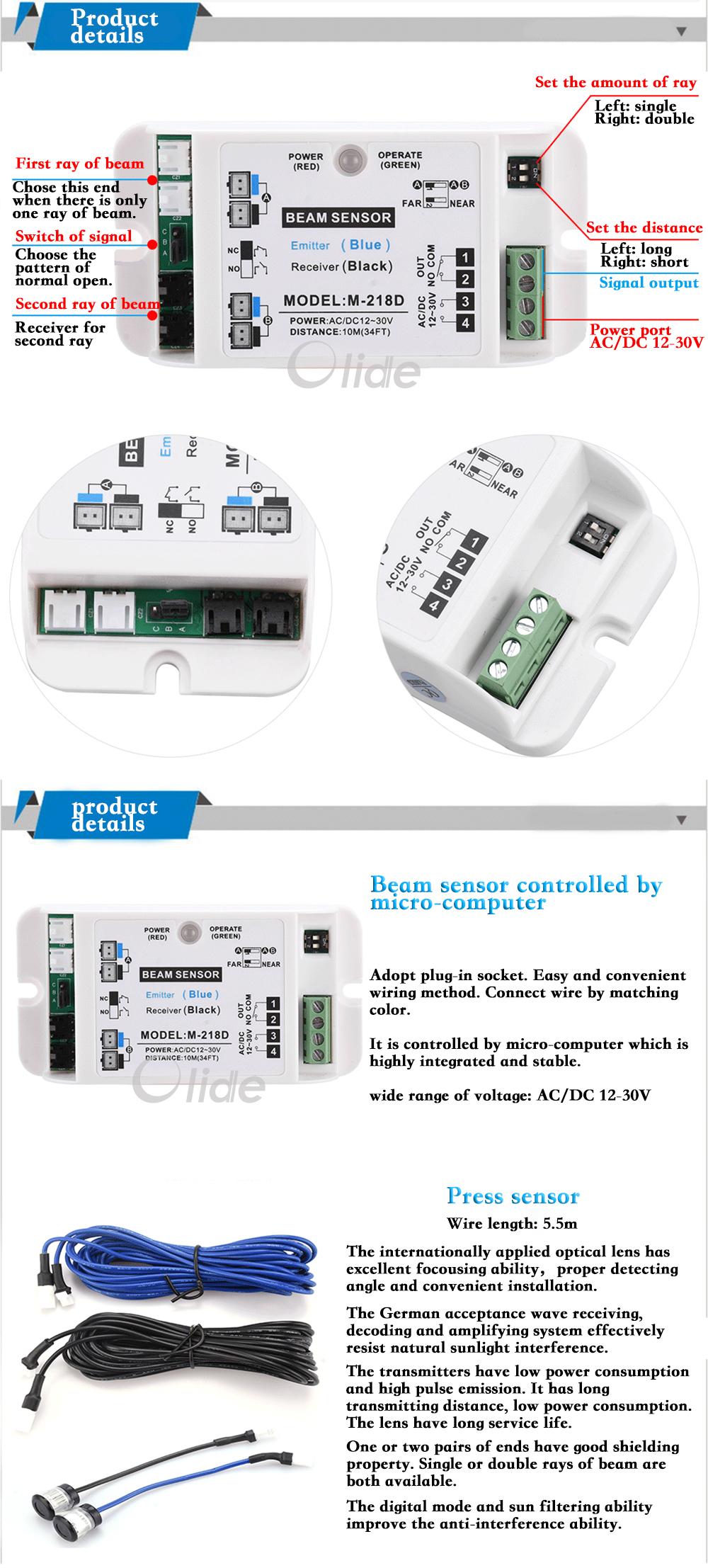 Automatic Sliding Door Safety Beam Sensor Beam Sensors For Autodoor