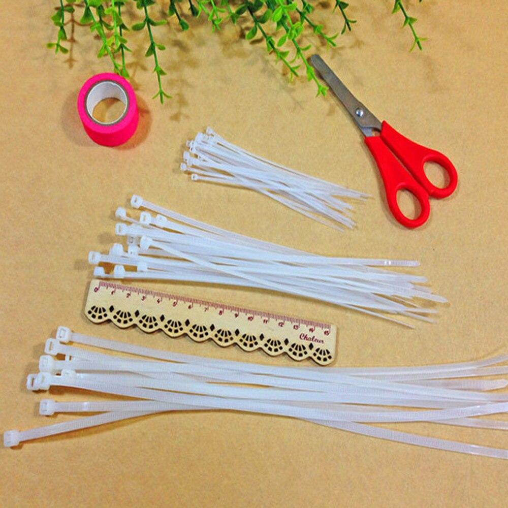 100 X 10cm Black Plastic Zip Trim Wrap Cable Loop Ties Wire Self-Lock YJ