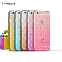 TPU Cases For Iphone6 6s Case High Quality Rhinestone Crystal Bling Glitter Diamond Grid Gradient Color