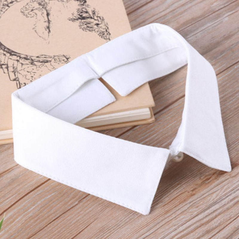Classic Black/White Collar Shirt Fake Collar Tie Vintage Detachable Collar False Collar Lapel Women/Men Clothes Accessories