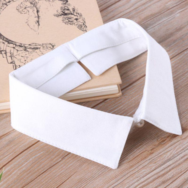 Classic Black/White Collar Shirt Fake Collar Tie Vintage Detachable Collar False Collar Lapel Women/Men Clothes Accessories