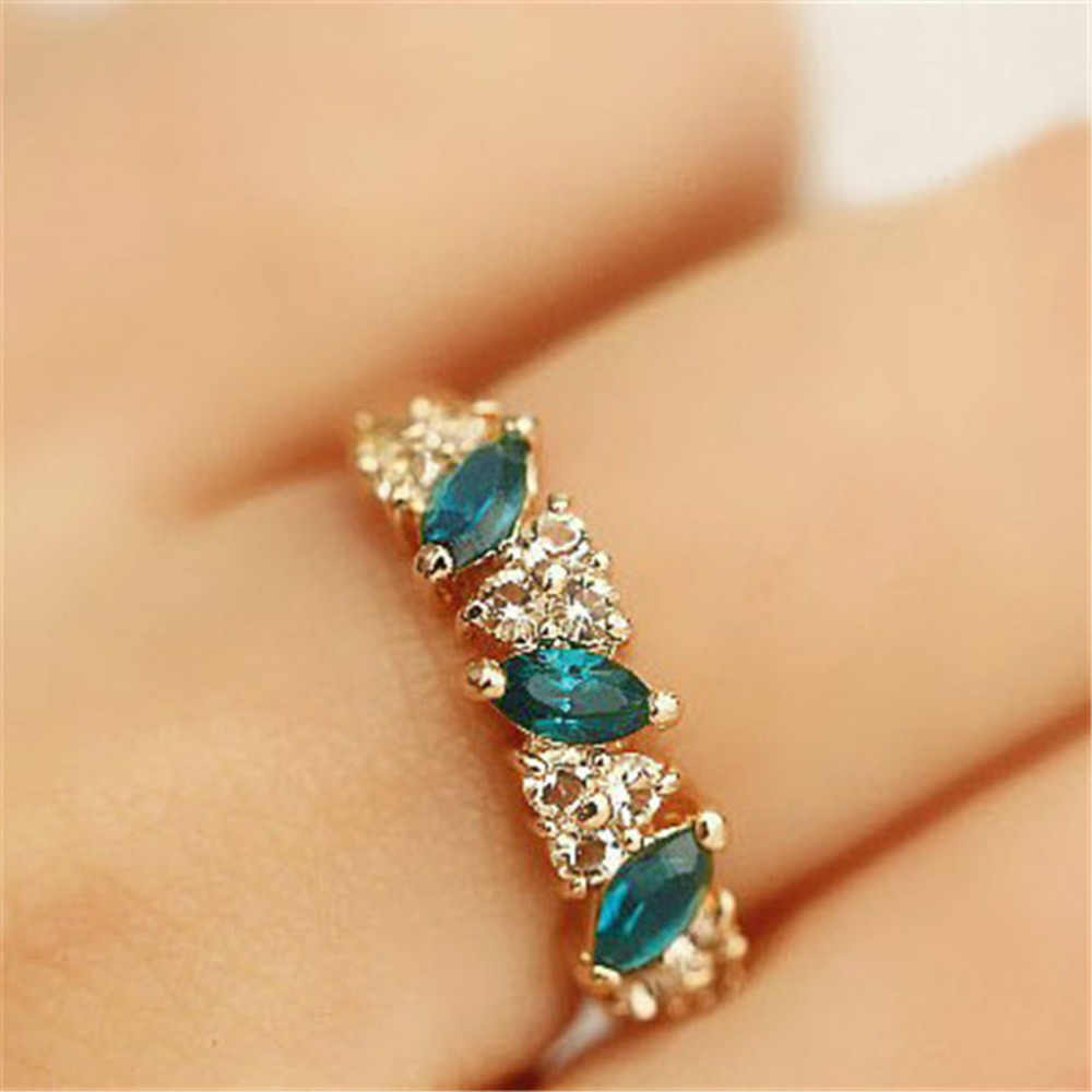 Women Men Rings Lovers Crystal Wedding Engagement Anillos Couple Ring Jewelry Accessories Ring Valentine's Gift Valentine's Gift