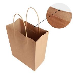 Image 5 - 30 قطعة/الوحدة 4 حجم كرافت ورقة حقيبة مع مقابض لحفل زفاف ملابس عصرية هدايا متعددة الوظائف بالجملة