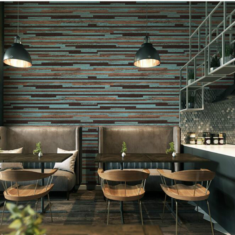 Painting Supplies & Wall Treatments Careful Beibehang Simulation Wood Plank Wood Flooring Wallpaper Clothing Store Cafe Restaurant Hotel Library Backdrop Wallpaper Durable Service