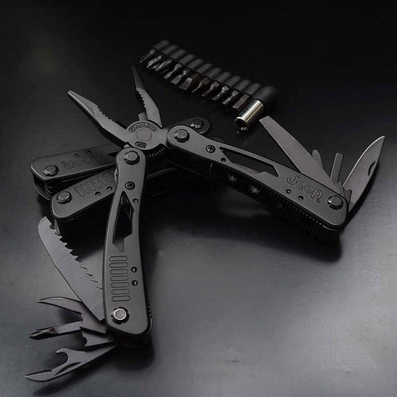 Multifunction pliers folding multi-tool folding knife outdoor portable stainless steel needle nose pliers