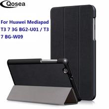 Qosea pour Huawei Mediapad T3 7 3G BG2 U01 étui en cuir pour Huawei Mediapad T3 7 3G BG2 W09