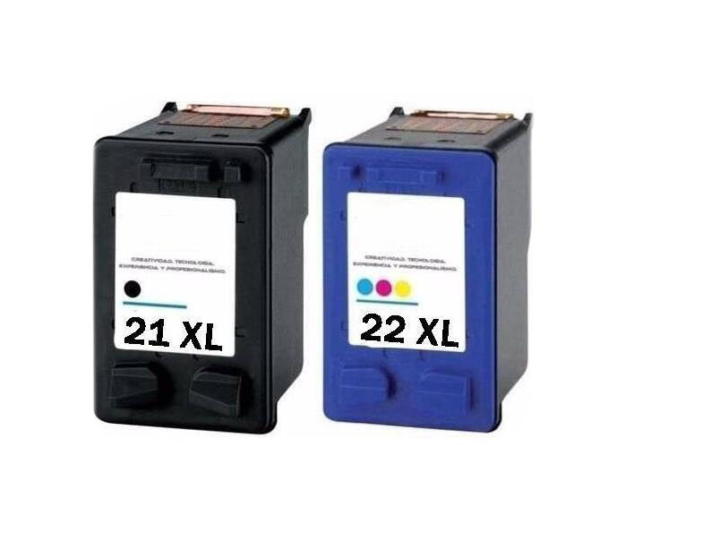 2pk for hp 21xl 22 xl ink cartridges for hp 21 and 22 for hp deskjet f380 f2100 f2110 f2240. Black Bedroom Furniture Sets. Home Design Ideas