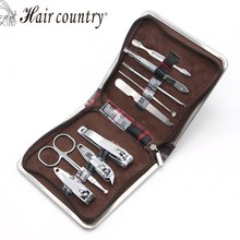 9pcs  Nail Care Set Pedicure Scissor Tweezer Knife Ear pick Utility Manicure Set Tools