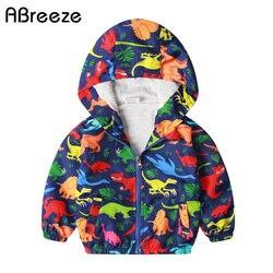 Crianças novas roupas de chuva moda dinossauro impressão meninos outerwear à prova d1-água 1-7y fino crianças jaquetas chuva para meninos