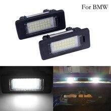 1 пара/2 шт. ошибок Led Подсветка регистрационного номера лампы накаливания Canbus белый 6000 k 12 V для BMW E39 E60 E61 E82 E90 E91 E92 E93 X5 X6