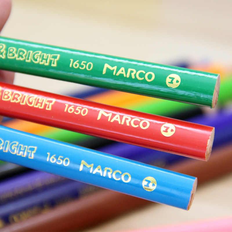 MARCOดินสอสีสำหรับการวาดภาพ12/24ที่แตกต่างกันมืออาชีพสีที่ดินสอชุดดินสอไม้เครื่องเขียนอุปกรณ์การเรียน
