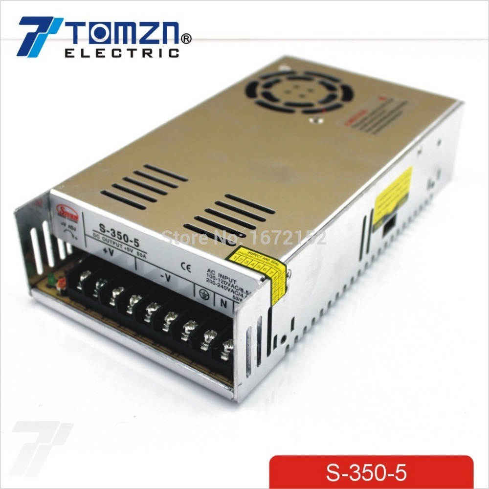 350 W 5 V 50A alimentation à découpage à sortie unique pour bande de LED