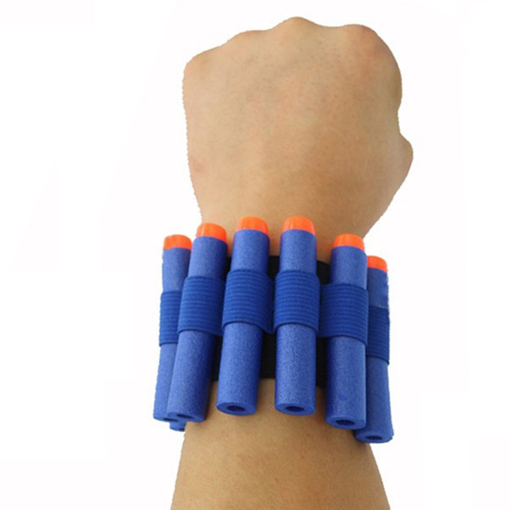 1 Piece Bandolier For Nerf N-strike Elite Series Soft Bullet Wrist Strap Dart Ammo Storage Wrist Strap-blue Toy Gun Accessories