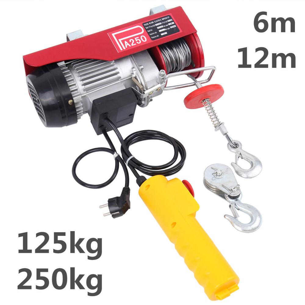 250kg Electric Winch Workshop Garage Hoist Scaffolding Cars Off-Road Engines Lift Winch