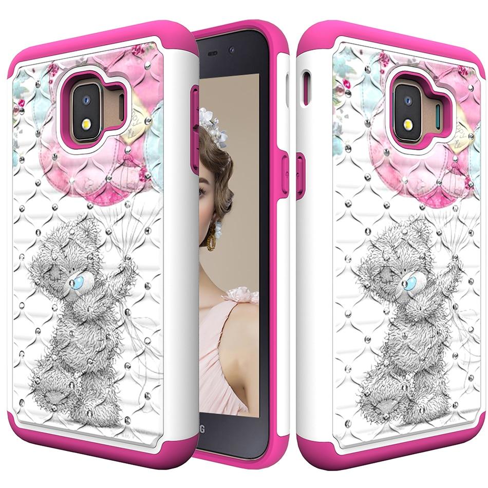 Bling Rhineston Silikon Pc Telefon Fall Für Samsung Galaxy J2 Core 2018 Sm-j260g/ds Muster Tpu Abdeckung A6 2018 Sm-a600fn C21
