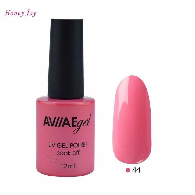 Aviiae Light Pink Sparkle Glitter Color Gel Nail Polish Long Lasting Soak Off Led
