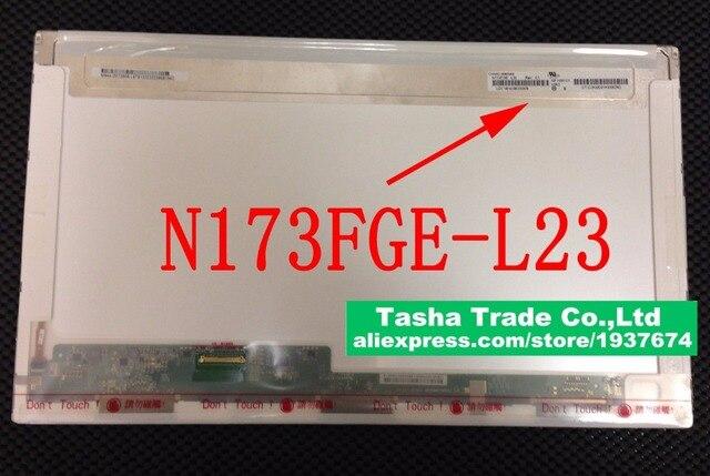 "Para ChiMei N173FGE-L23 Rev. C1 N173FGE L23 Glossy Laptop Tela LCD 17.3 ""Display LED de 1600*900 HD +"