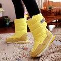 Бесплатная доставка 2017 новых зимой утолщение женская обувь снега сапоги тепловые обувь женские сапоги скольжению водонепроницаемый сапоги