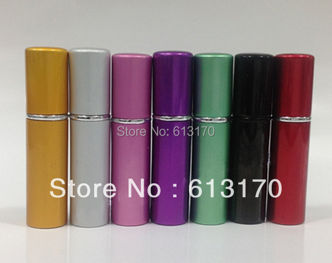 5ml aluminum Spray Perfume bottle Empty metal Atomizer Cosmetic packaging bottles Mini parfum vials wholesales free shipping  5 pcs empty cosmetic containers women spray perfume bottle clear 30ml empty spray bottle travel plastic perfume bottles