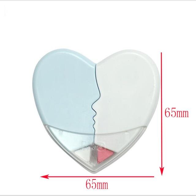 1pc mignon mode créatif 10m * 5mm coeur Sentiment Couple Correction bande enfant étudiant apprentissage papeterie cadeau fournitures scolaires
