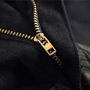 Image 5 - Özel fiyat! Erkek renkli desen 3D baskılı geri kot moda kartal boyalı slim fit düz pantolon