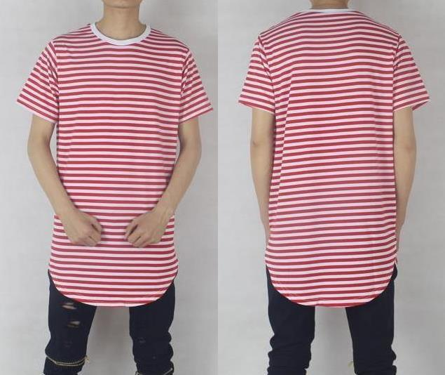 red striped shirt men hip hop streetwear brand designer kanye west ...