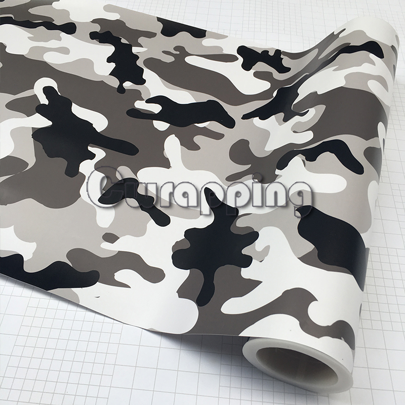 Black White Grey Snow Camo Vinyl Car Wrap Arctic Printed Camouflage Scooter Motorcycle DIY Sticker Film Adhesive 1.5M 2M 3m SIZE shadow grass blades camo vinyl car wrap duck hunter adhesive pvc camouflage film for truck motocycle hood decals page 3