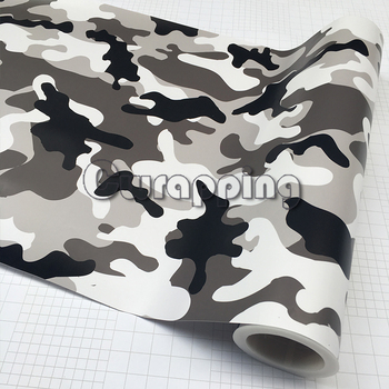 Black White Grey Snow Camo Vinyl Car Wrap Arctic Printed Camouflage Scooter Motorcycle DIY Sticker Film Adhesive 1.5M 2M 3m SIZE 180sx led ヘッド ライト