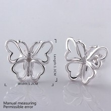 fashion jewelry Earring For Women, Silver Plated Earrings /ZUFMFPOS IOHHJIMI