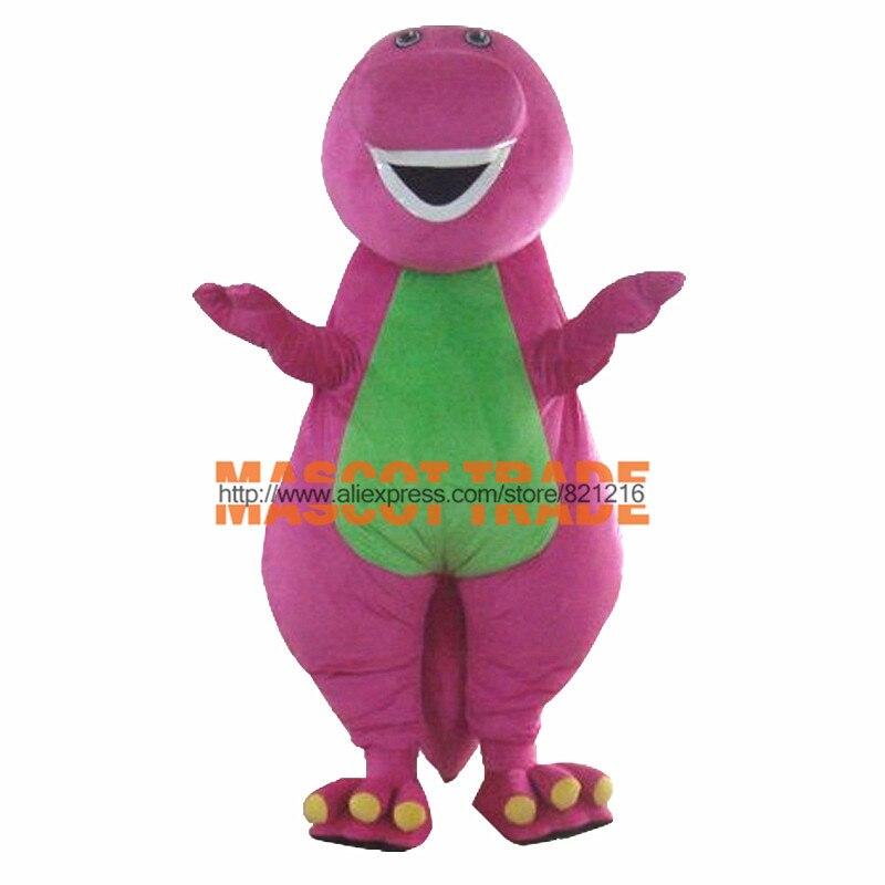 Индивидуальный заказ высокое качество взрослых Барни мультфильм маскоты костюмы на взрослых Размер